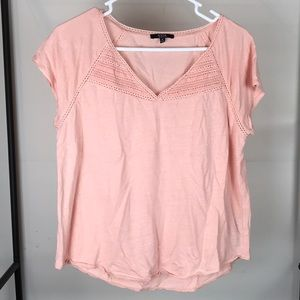 NYDJ Embroidered Short Sleeve Top Sz S
